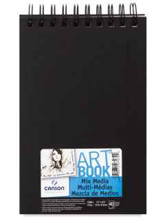 Carta multitecnica Canson Artbook Mix Media - 14x21.6 - 40fg
