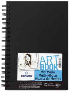 Carta multitecnica Canson Artbook Mix Media - 17,7x25,4 - 40fg